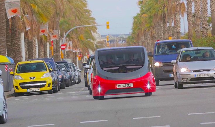 Rinspeed Oasis: автономный электромобиль для каршеринга