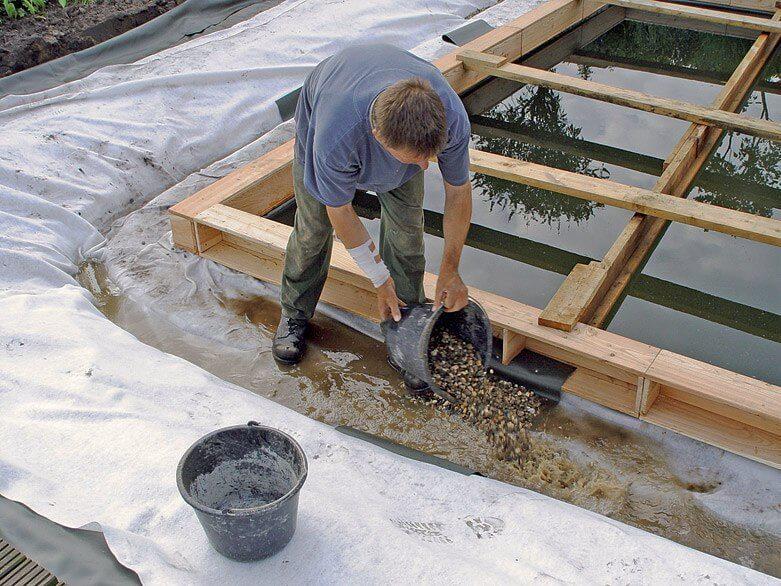 Как сделать мостки в пруд 94