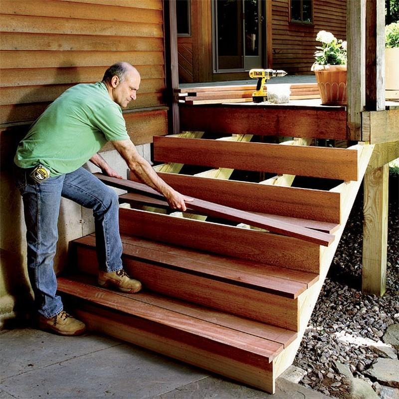 Как сделать лестницу для веранды 23