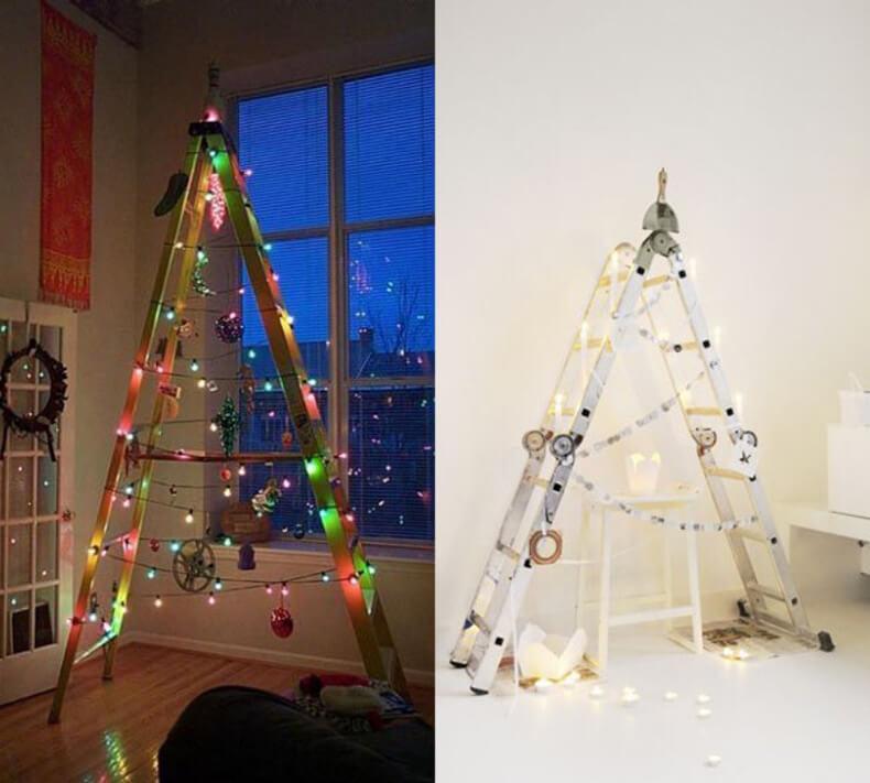 Оригинальные новогодние елки своими руками 9