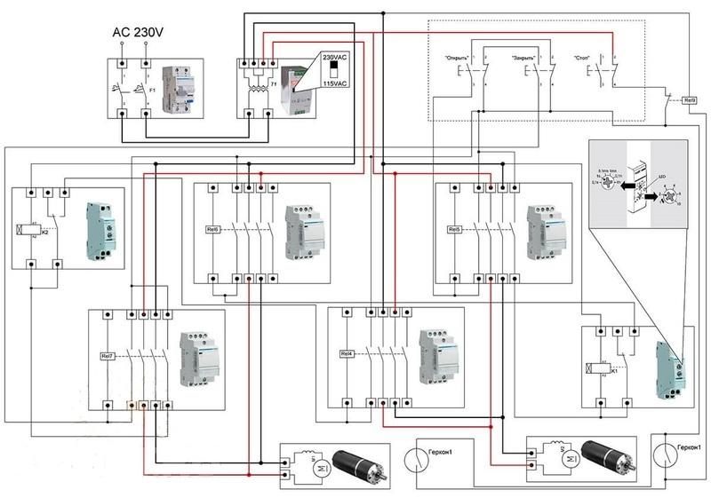 Электрическая схема для откатных ворот своими руками 12