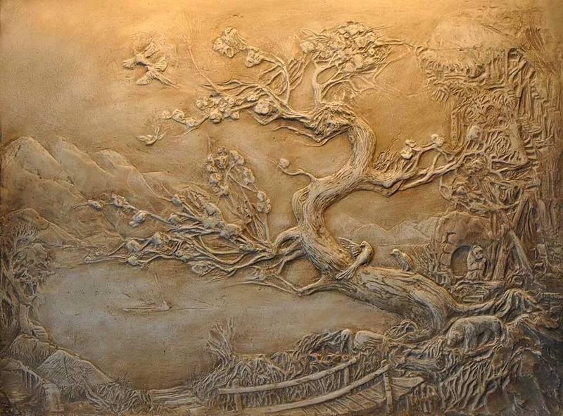 Декоративная штукатурка скала своими руками из шпаклевки