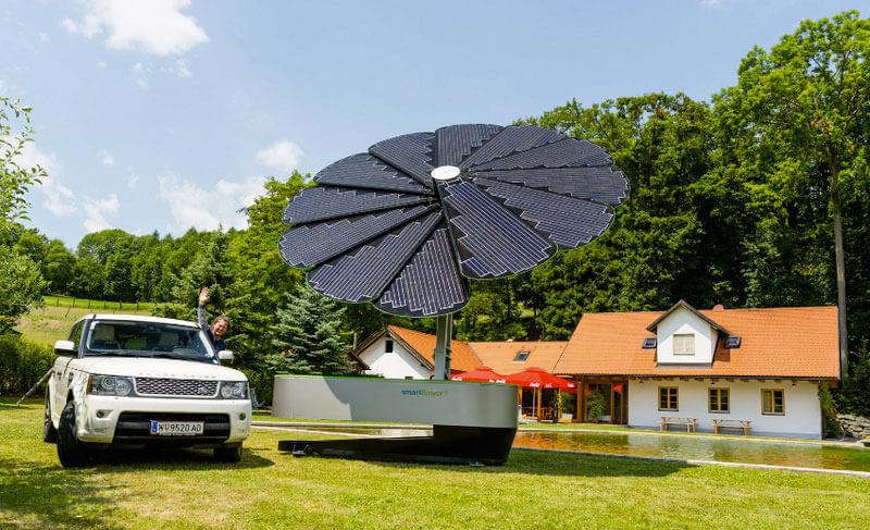 солнечная батарея в форме подсолнуха