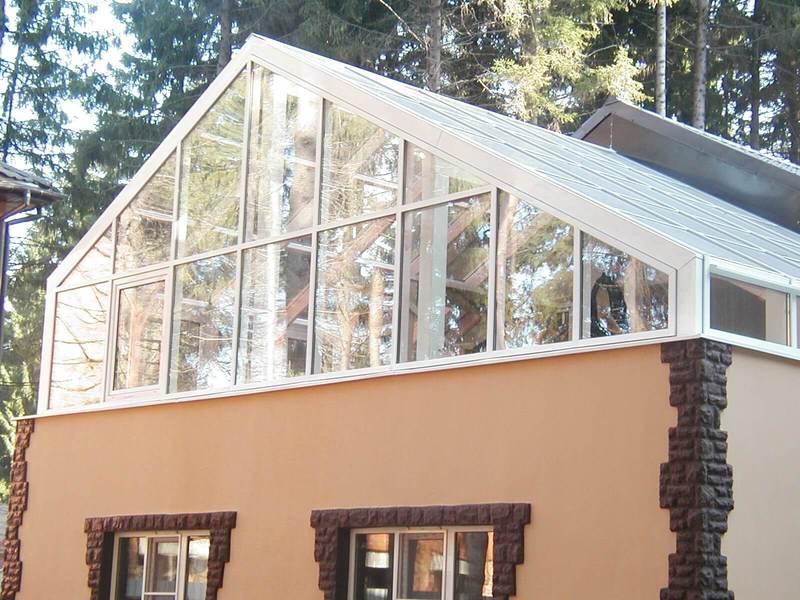 Зимний сад на крыше: решение для небольших домов
