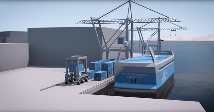 В Норвегии создадут контейнерное судно с системой автопилотирования