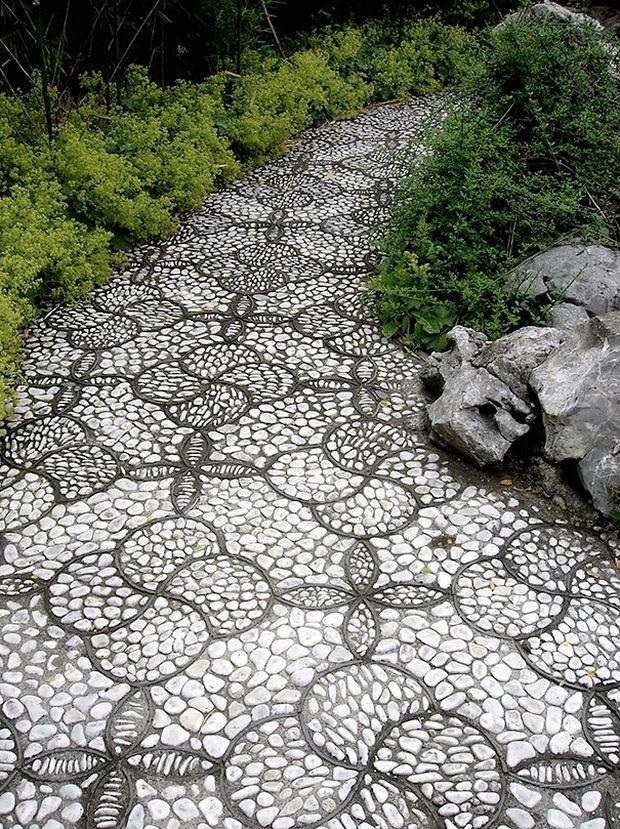 Фото садовые дорожки из гальки