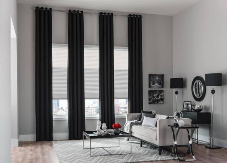 Шторы для комнаты с низкими потолками фото