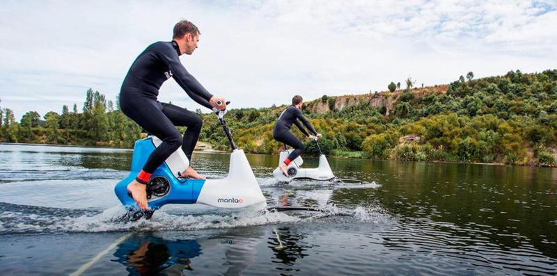 Представлен велосипед для поездок по воде