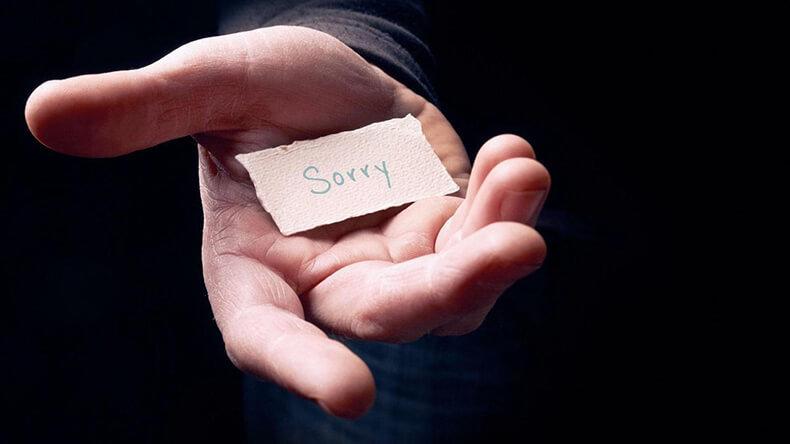 Плохая привычка извиняться