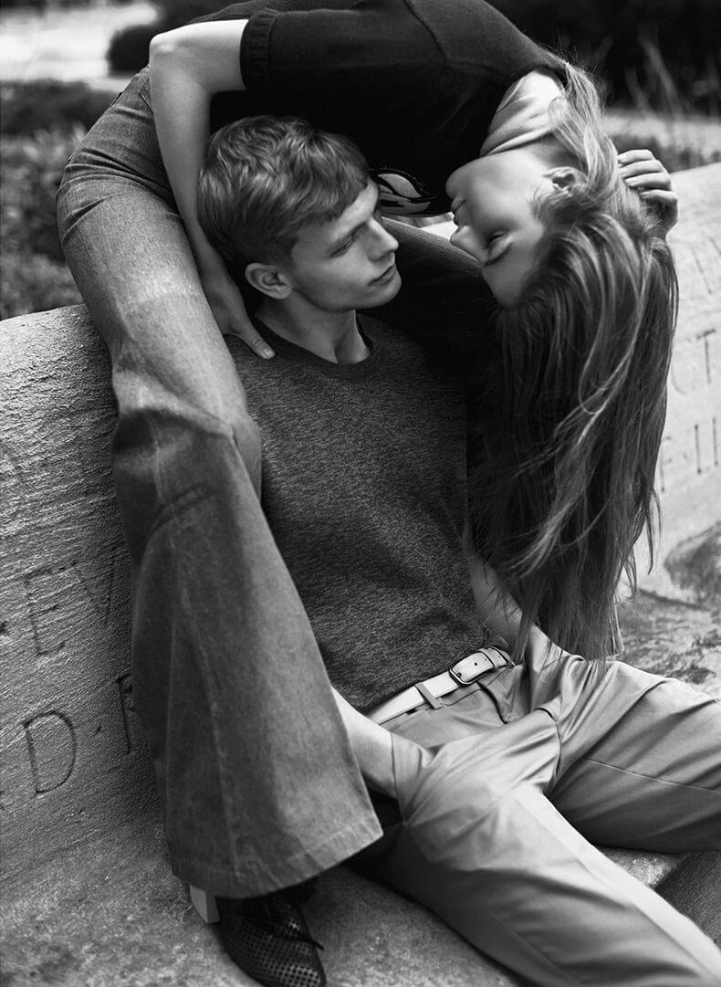 Парень и девушка фото черно белые