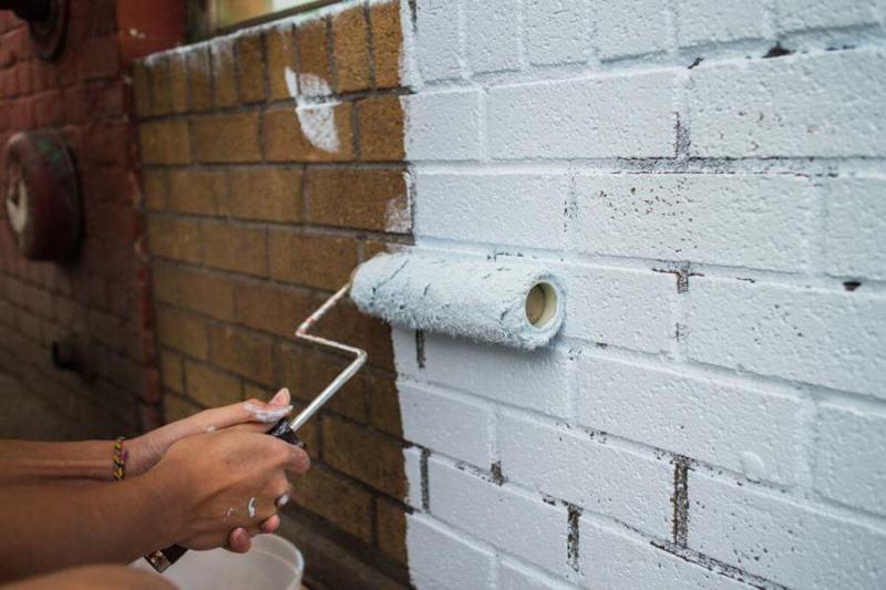 Краски для кирпичной стены гидроизоляция фундамента сша