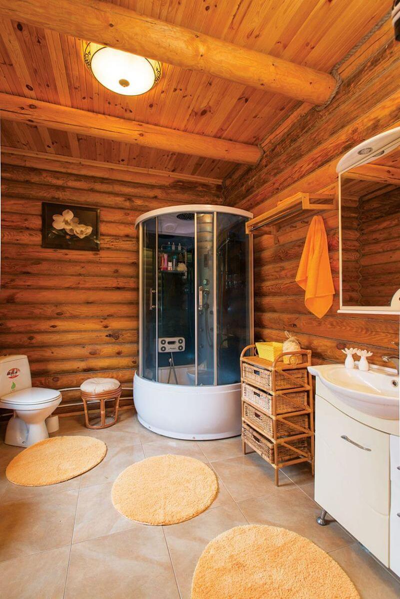 Ванная комната в деревянном доме: варианты отделки