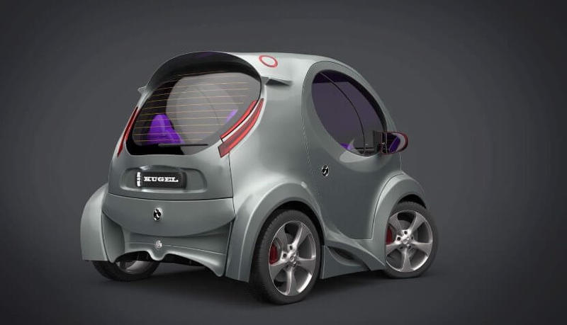 Представлен электромобиль Kugel - миникар форм-фактора Smart