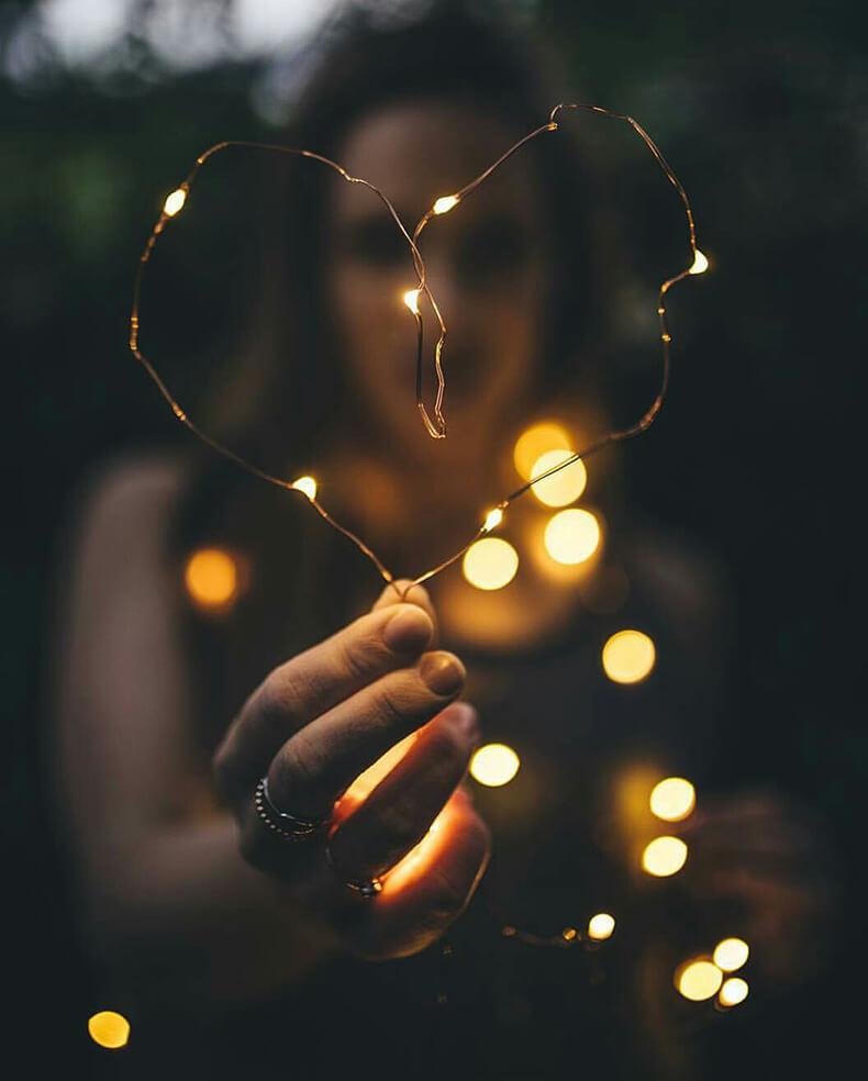 Как красиво фотографировать гирлянды в темноте
