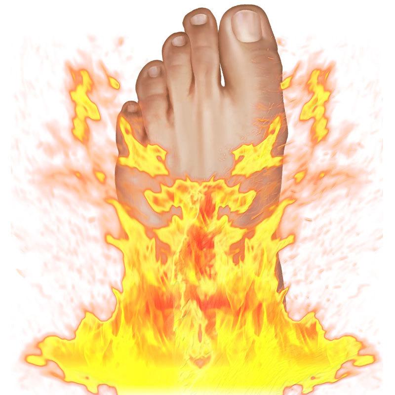 Почему «горят» пятки: Психосоматика подагры и жжения в ступнях