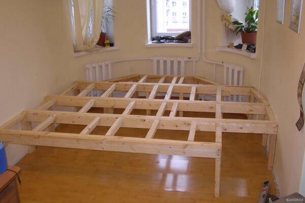 кровать подиум своими руками пошагово фото девушки парни