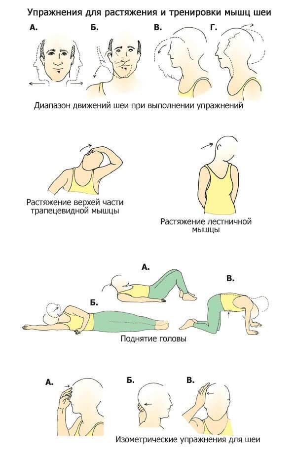Безопасная лечебная гимнастика при шейном остеохондрозе