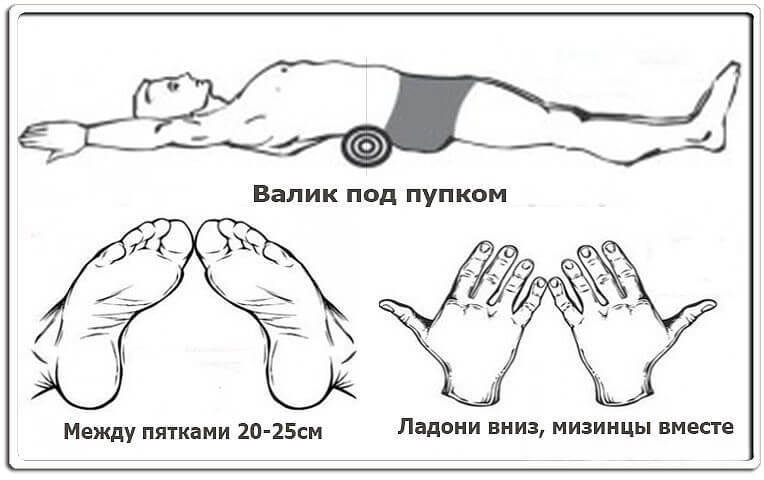 Валик под поясницу соединить большие пальцы ног thumbnail