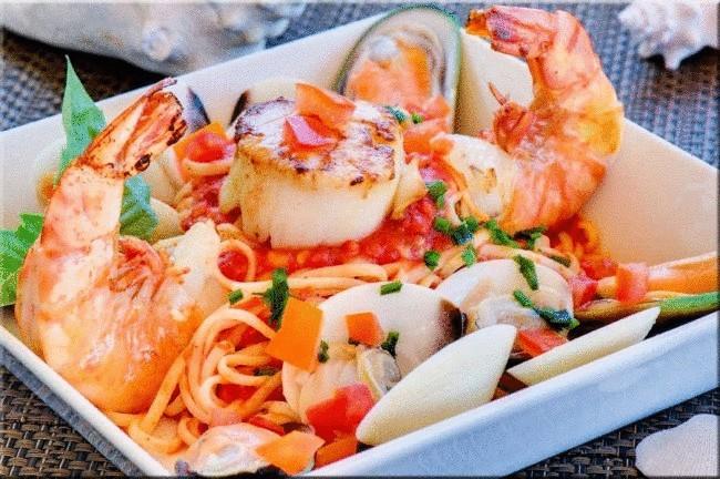 Спагетти с морепродуктами от Алексея Секирина - Портал Домашний