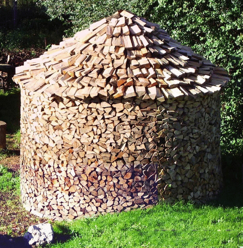 Эргономичная укладка дрова на зиму. Метод Хольцхаузен