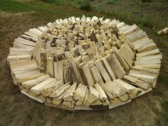 укладка дров Хольцхаузен