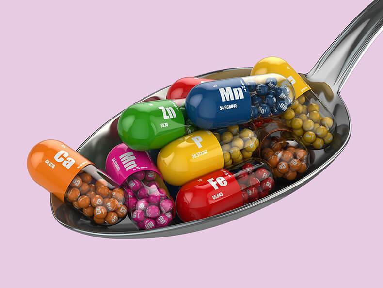 Витамины, минералы и микроэлементы для коррекции обменных и эндокринных нарушений