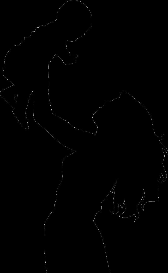 Шаблон картинка мама с ребенком