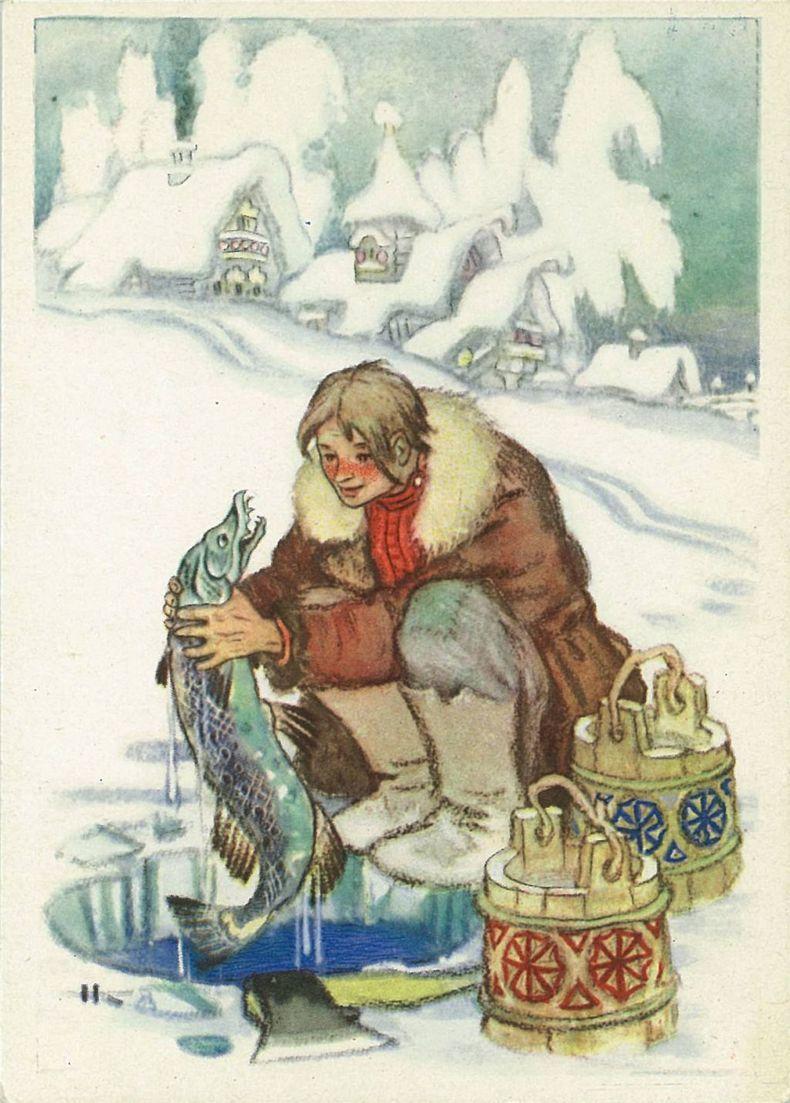 Открытки русские народные сказки