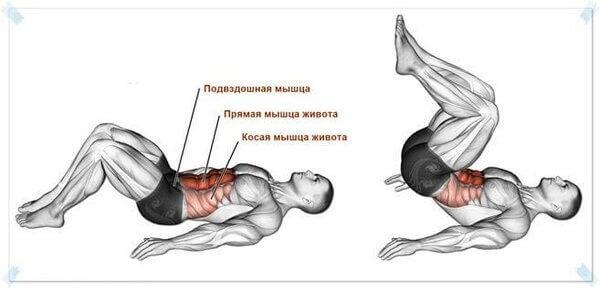 Тренировка глубоких мышц для плоского живота и здоровой поясницы