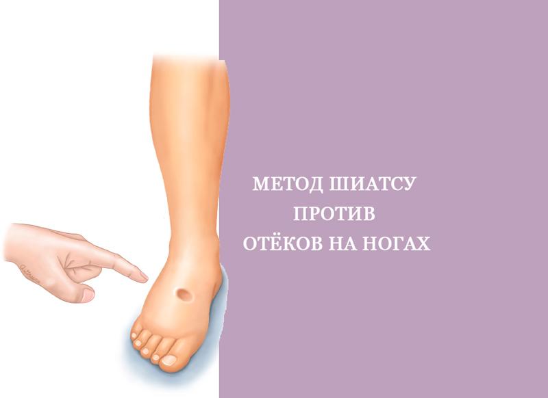 Метод шиатсу против отёков на ногах