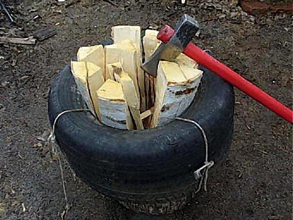 Электроколун для дров своими руками видео