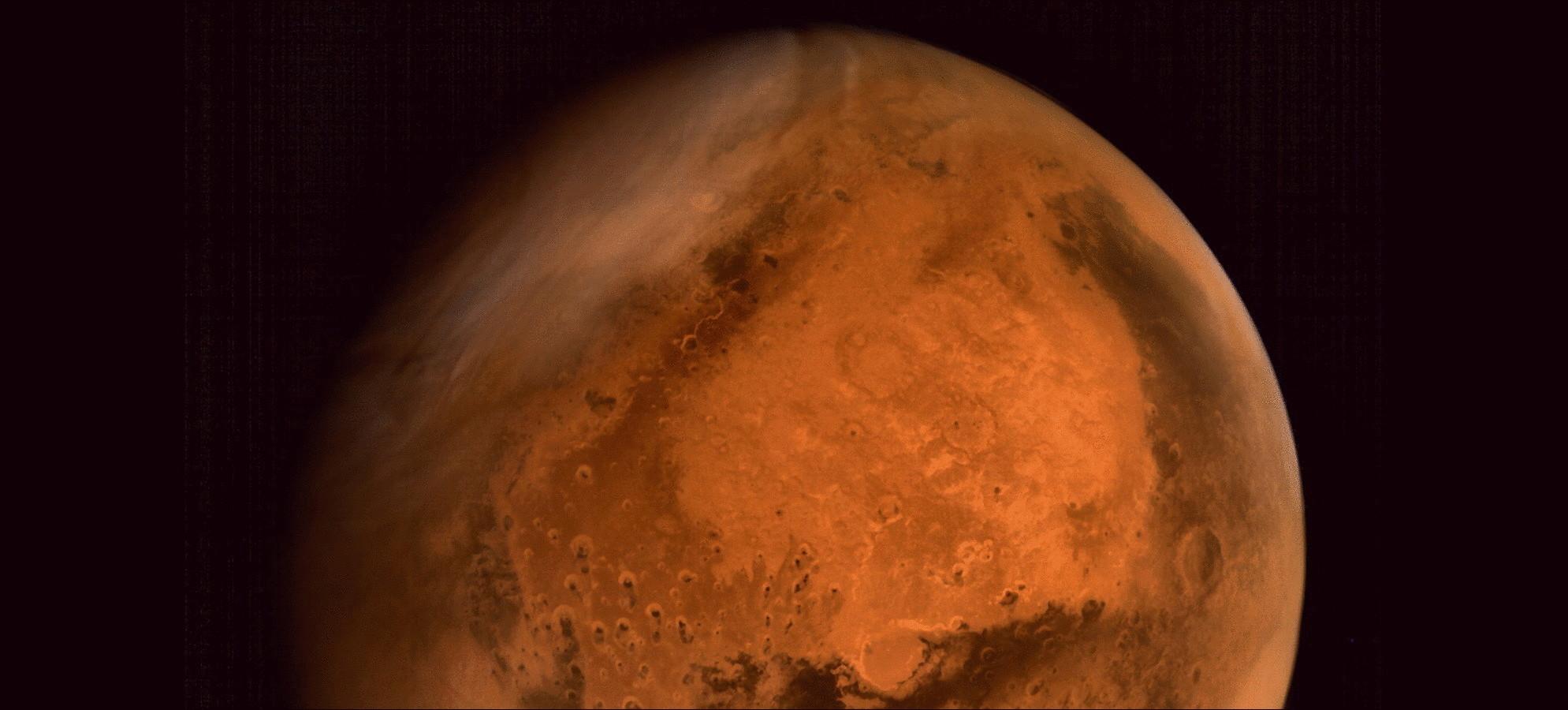 Индийский спутник сделал первое цветное фото Марса (2 фото)