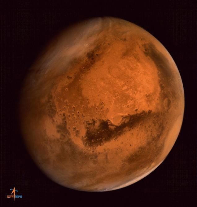 Mars planet inside