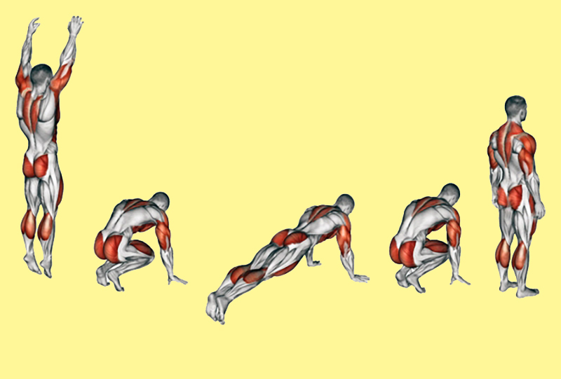Техника Берпи: красивое тело без спортзала