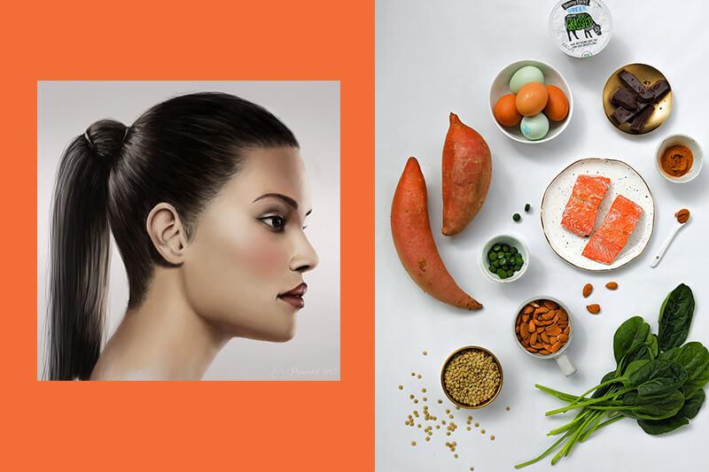 Перечень продуктов для здоровой и сияющей шевелюры