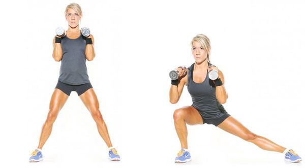 TOP 5 fat burning exercises for the breeches zone