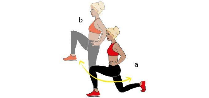 Упражнения выпады для ягодиц и внутренней поверхности бедер: 7 вариантов выполнения