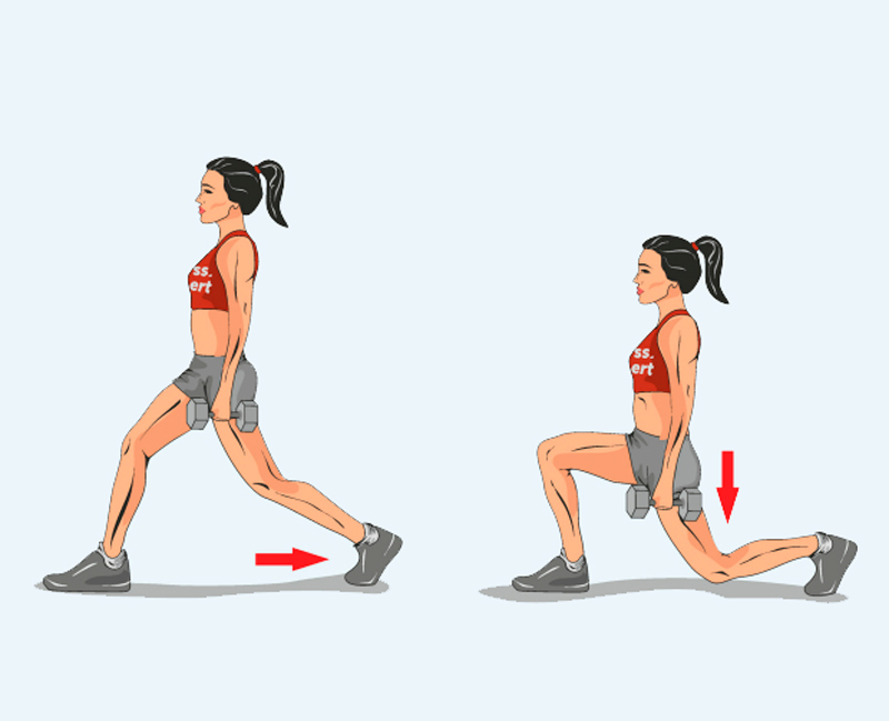 Exercises lunges for the buttocks and inner thighs: 7 options