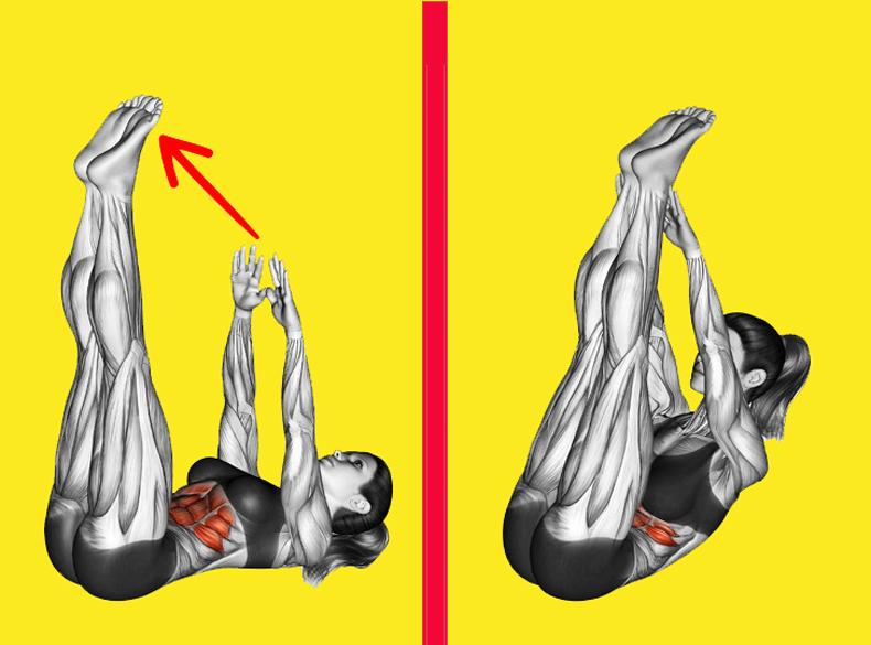 Эти 2 упражнения – «убийцы» жира на животе и боках