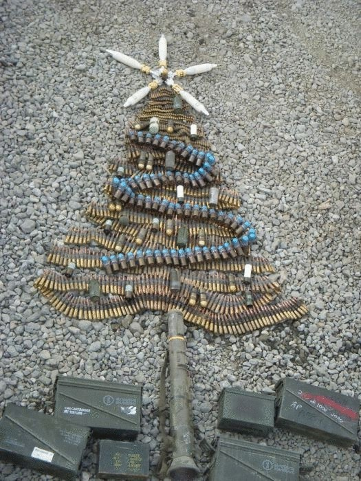 Необычная рождественская елка.