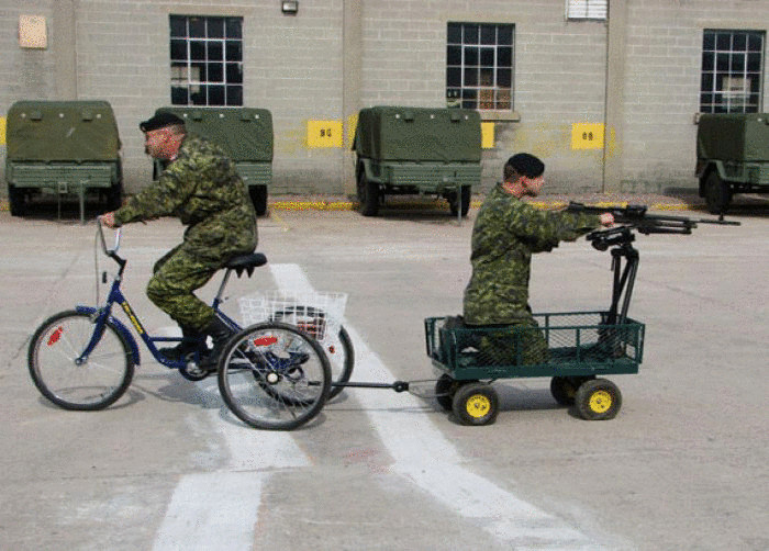Новый армейский транспорт.