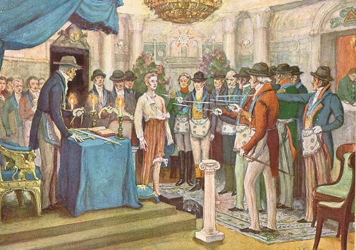 Собрание масонов во времена Александра I. Картина А.В.Моравова.