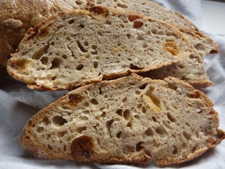 Домашний, бездрожжевой хлеб на ржаной закваске