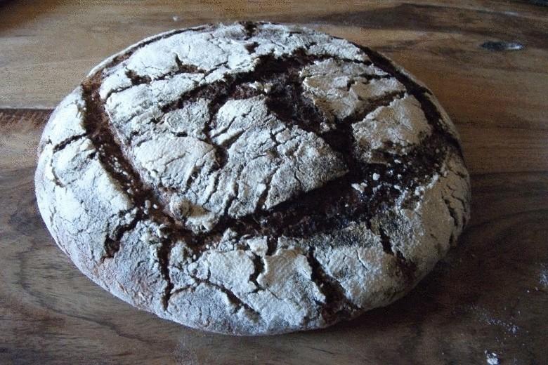Рецепты: Домашний, бездрожжевой хлеб на ржаной закваске