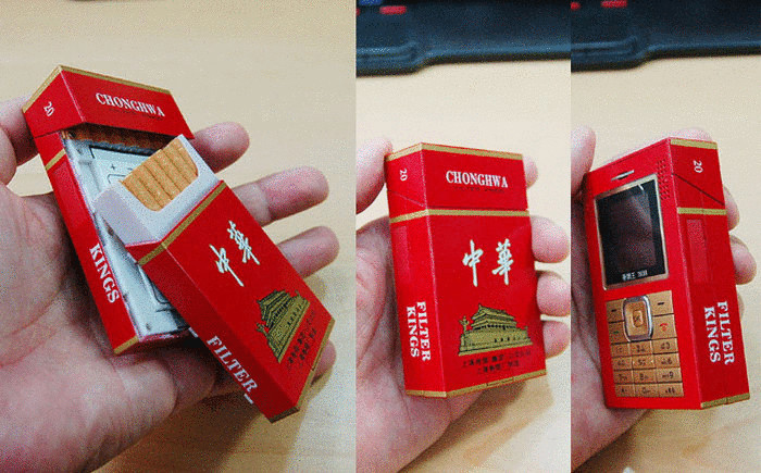 Chinese phone in the form of a pack of cigarettes