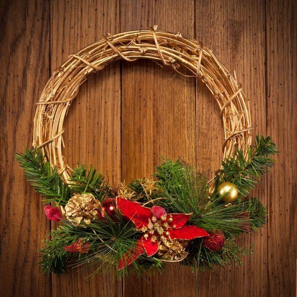 Рождественский венок совсем не обязательно должен быть хвойным