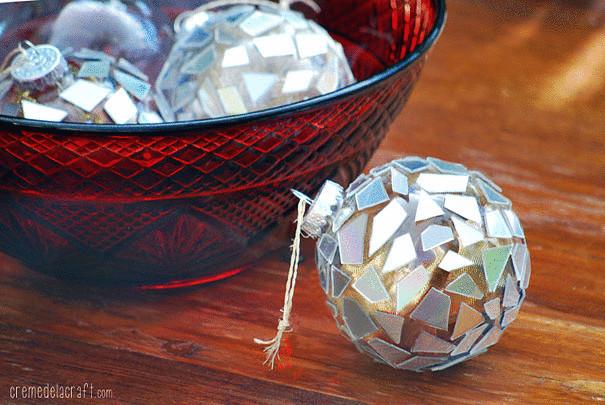 Новогодние украшения своими руками из компакт диска