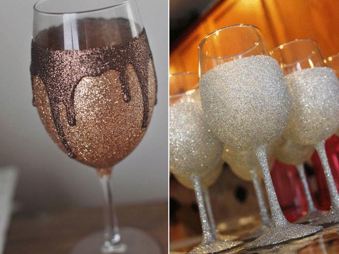Как украсить стакан своими руками на новый
