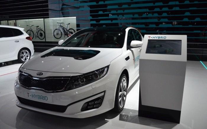 Kia Optima T-Hybrid.