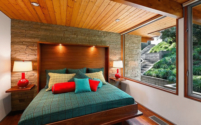 Спальня в стиле 60-х